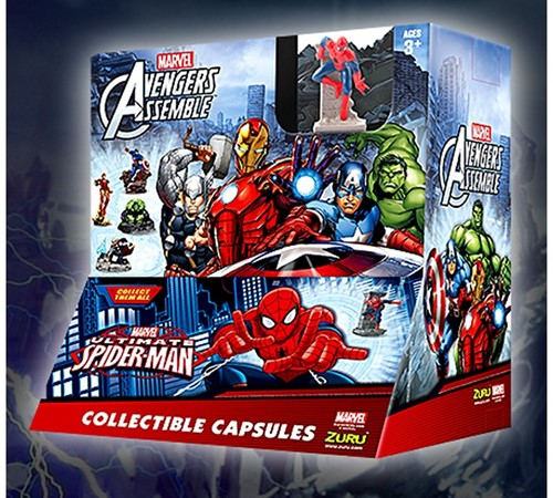 Blind Bag Marvel Avengers verzamelfiguren in capsule assorti in display 7,5cm