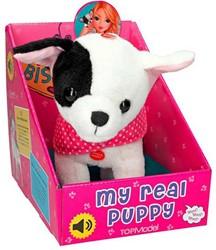 Pluche Hond Bisou met geluid 23cm