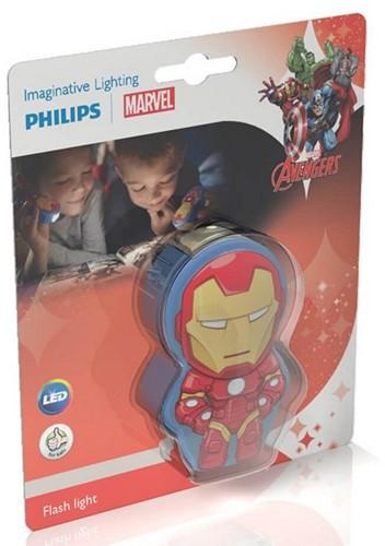 Marvel Iron Man LED-Taschenlampe (Philips) 5,5x9cm (ohne Batt.)