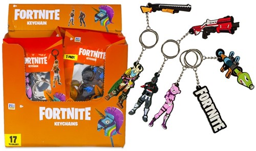 Fortnite 2D sleutelhanger assorti 7cm in orange display (24)