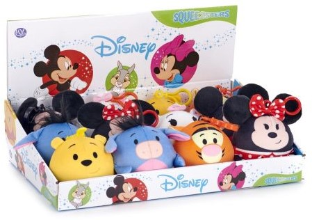 Disney Squeezster Bag Clip 6 assorti 9cm