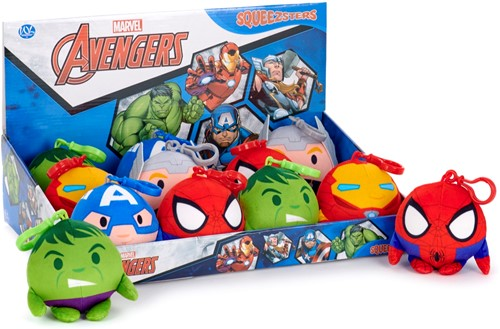 Disney Marvel Squeezster Bag Clip 5 assorti 9cm