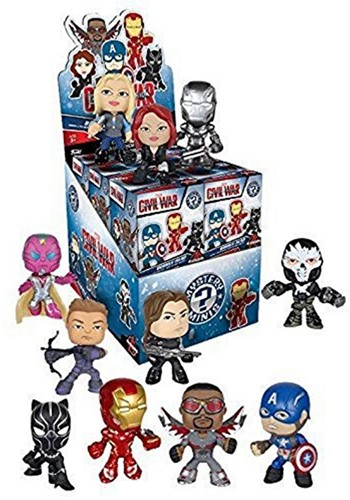 Mystery Minis Captain America 3 assorti in display 7,5x9cm