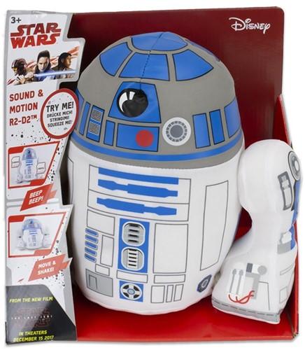 Disney Star Wars Pluche R2-D2 bewegend en met 10 verschillende geluiden in display box 30cm