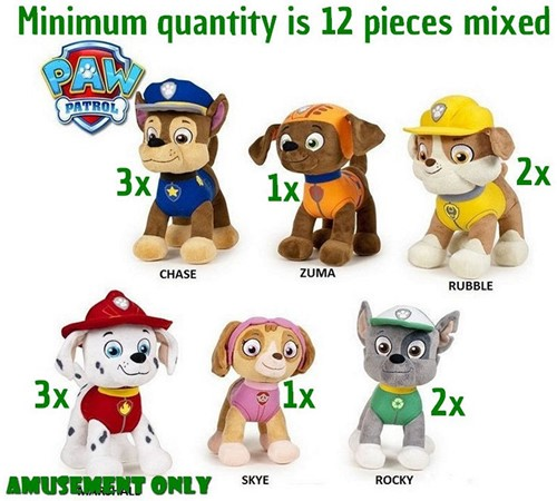 Paw Patrol Classic Gift S3 6 assorti 28cm -Amusement only-