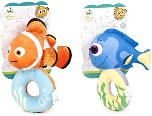 Disney Baby Nemo & Dory Rammelaar op kaart 2 assorti 15cm