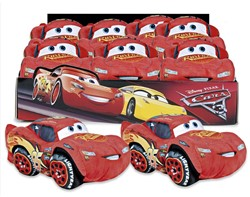 Disney Cars Pluche Lightning McQueen in display 17cm
