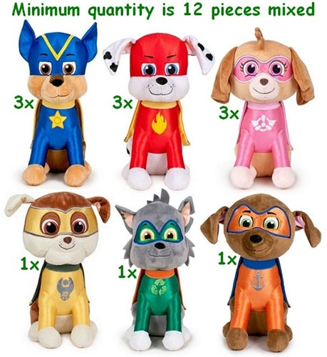 Paw Patrol Super Pup Gift S3 6 assorti 28cm -Amusement only-