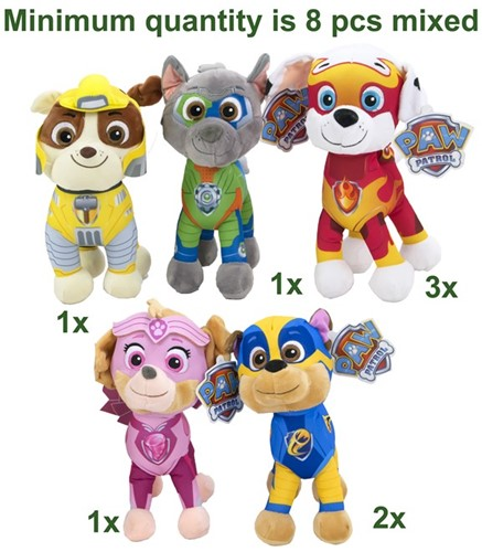 Paw Patrol Mighty Pups S3 6 assorti 28cm