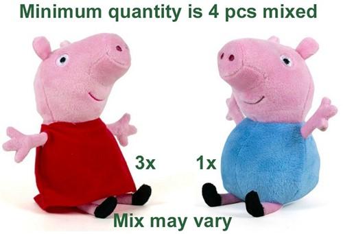 Peppa Pig Pluche Peppa & George S3 2 assorti 28cm