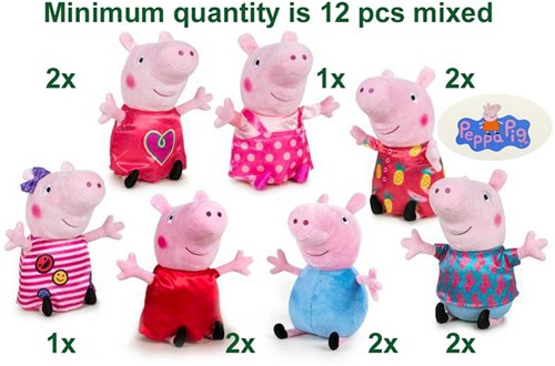 Peppa Pig Pluche Mix it up S1 7 assorti 20cm