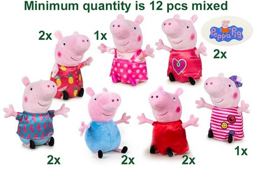 Peppa Pig Pluche Mix it up S3 7 assorti 31cm