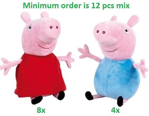 Peppa Pig Pluche Peppa & George S3 2 assorti 31cm
