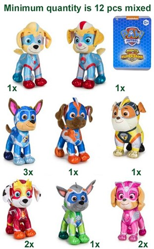 Paw Patrol Super Paws Mighty Pups S3 8 assorti 27cm