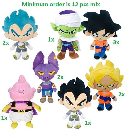 Dragon Ball Z Supersoft Pluche 7 assorti 31cm