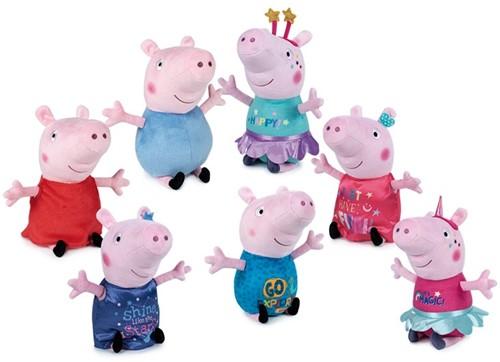 Peppa Pig Pluche Unicorn & Stars S3 7 assorti 31cm
