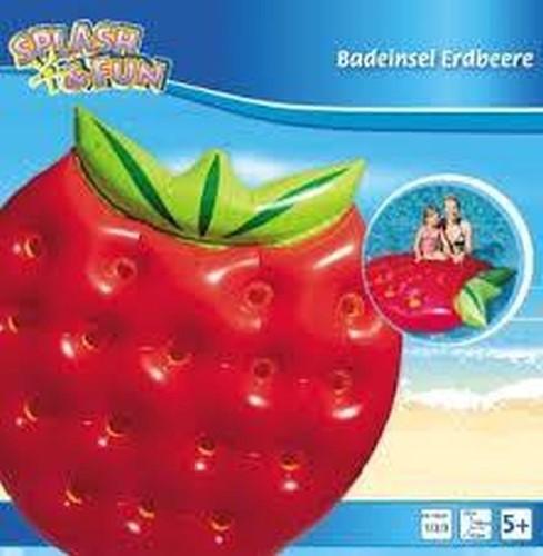 Splash & Fun Opblaasbare Aardbei Eiland 143x140cm