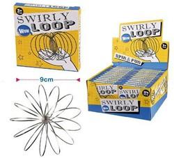 Swirly Loop Magische Ring RVS in display 9cm