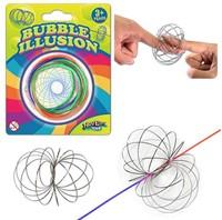 Swirly Loop Magische Ring RVS op blister 6cm