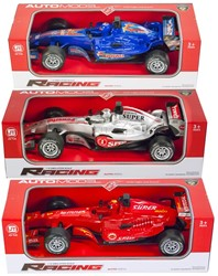 Race auto 1:18 Friction met licht en geluid 3 assorti 9x29cm