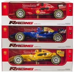 Race auto 1:14 Friction met licht en geluid 3 assorti 12x37cm
