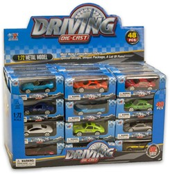 Die-Cast auto's 1:72 12 assorti in display 4,5x10,5cm