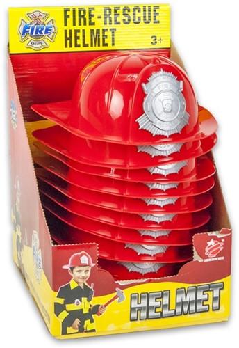 Brandweerhelm rood in display