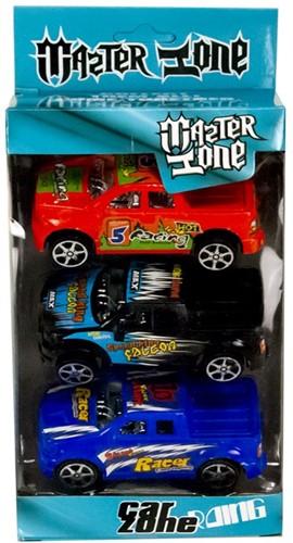 Auto Pick-up 9cm Car Zone Pull Back 3 stuks 11,5x18cm