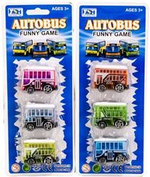 Bus 4,5cm 3 stuks 2 assorti 10x25cm
