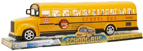 Bus School Bus Friction Geel 30cm