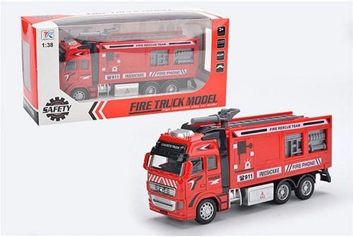 Die-Cast Brandweerwagen Pull back 4 assorti-2