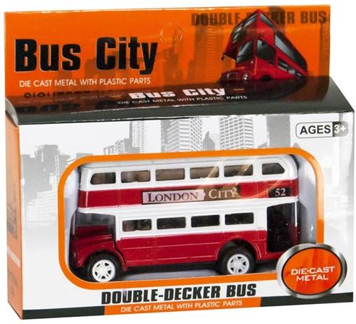 Die-Cast Dubbeldekker Bus Rood 7x12cm