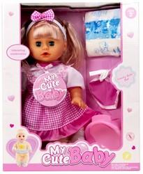 Babypop My Cute Baby met geluid 35cm