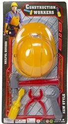 Constructie Speelset Helm met gereedschap 5 delig 29x57cm