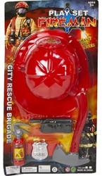 Brandweer Speelset Helm met toebehoren 5 delig 29x57cm