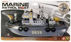 Boot Marine Patrol Boat met licht en geluid op kaart 23cm