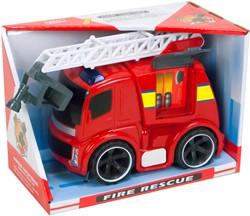 Brandweerwagen Friction Fire Rescue met licht en geluid 17x23cm