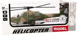 Die-Cast Helikopter Pull Back 1:88 met licht en geluid 9x22cm