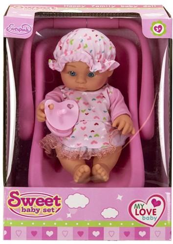 Babypop 20cm in autostoeltje 20x27cm-2