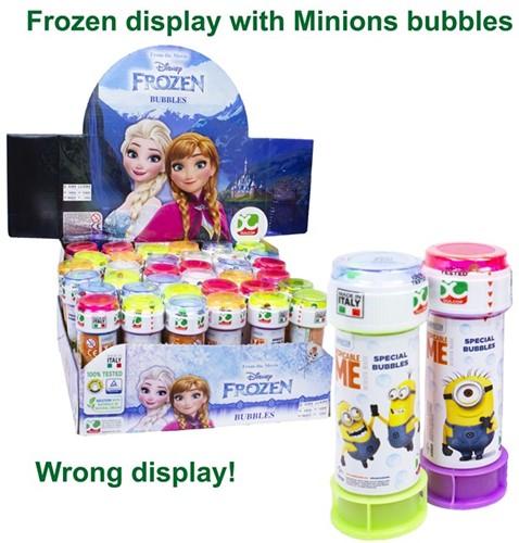 Minions Bellenblaas 60ml in Frozen display (36)