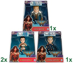 Metals Die-Cast DC Comics Wonder Woman 3 assorti 13x16cm