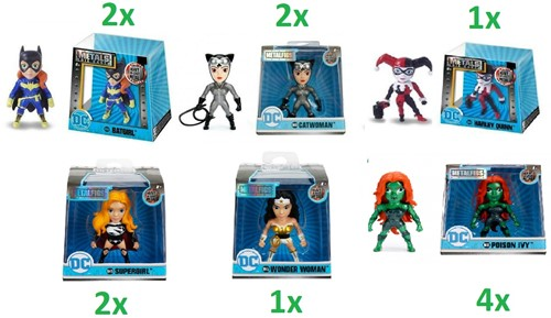 "Metals Die-Cast DC Girls 2,5"" / 6cm assorti"