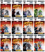 Marvel Spiderman & Avengers Nano Metalfigs assorti 4,5cm