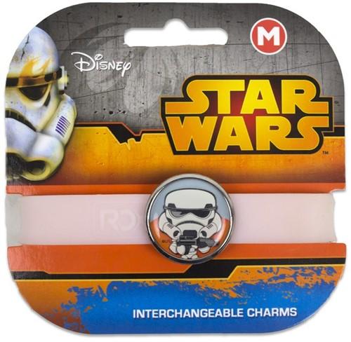 Star Wars armband met vervangbare Charm Storm Trooper