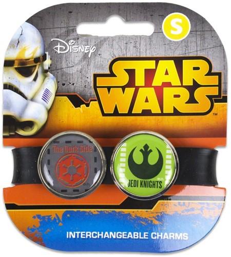 Star Wars armband met 2 vervangbare Charms Pop 2CB