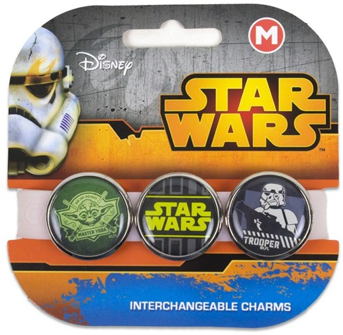 Star Wars armband met 3 vervangbare Charms Jumbo 3CB