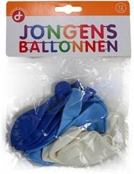 Ballonnen Jongens zakje 12 stuks