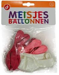 Ballonnen Meisjes zakje 12 stuks