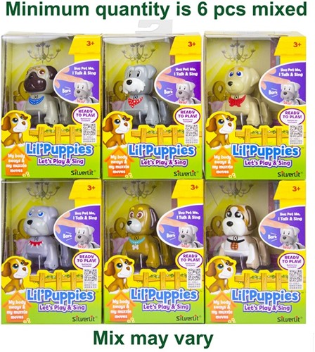 Silverlit Lil'Puppies Let's Play&Sing B/O 6 assorti 10x15cm