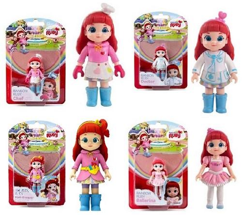 Rainbow Ruby figuren 8cm beroepen 4 assorti 12,5x19cm
